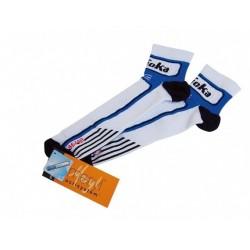 Calcetines GOKA compresion blanco / azul