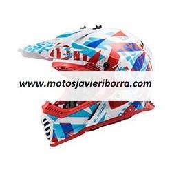 CASCO LS2 MX437 FAST EVO FUNKY Rojo / Blanco