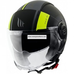 CASCO JET MT VIALE SV PHANTOM C3 MATT FLUOR YELLOW